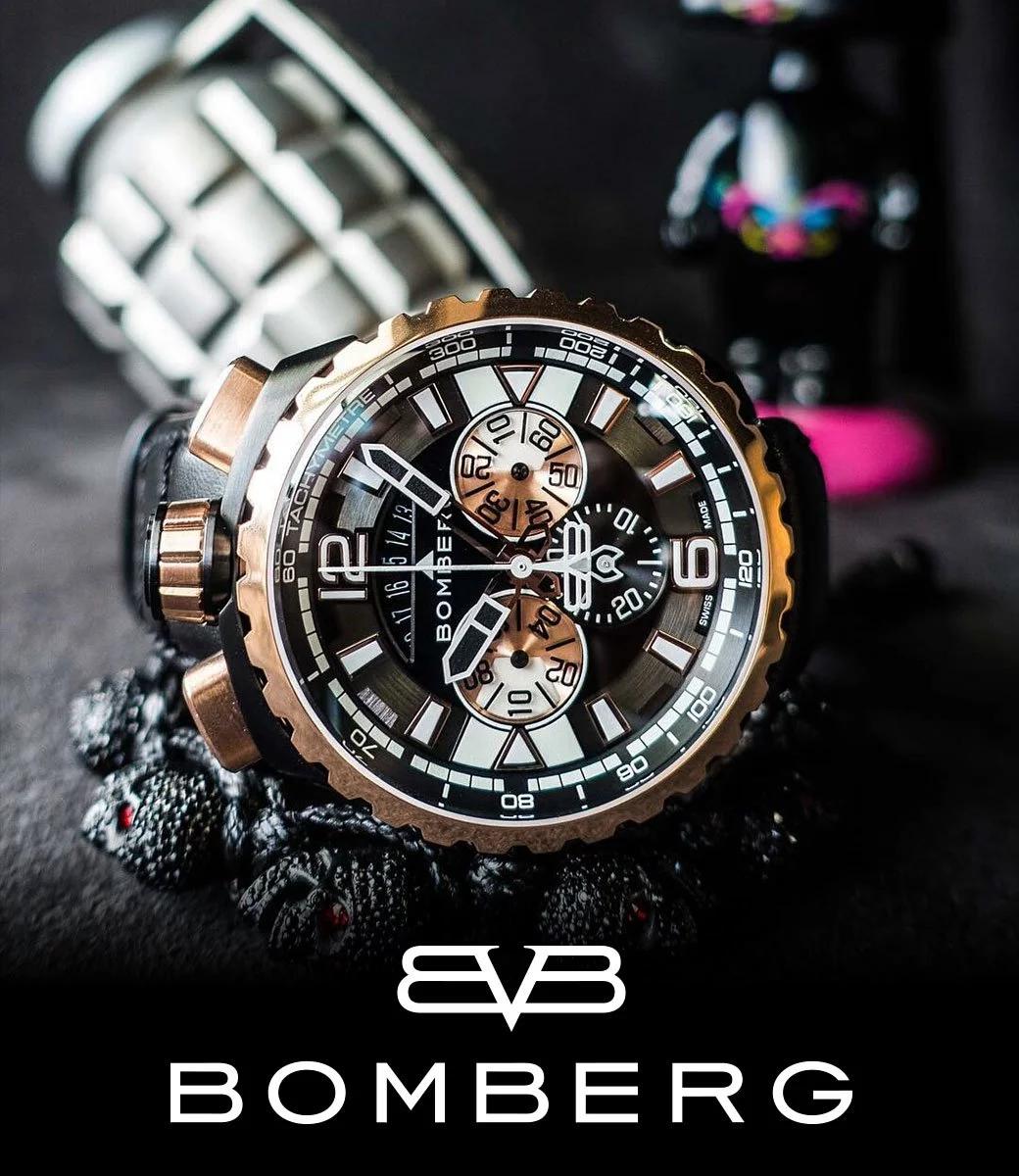 BOMBERG炸彈錶 金色計時碼錶 45mm