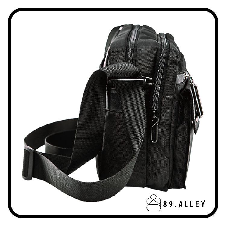 側背包 女包男包 黑色系防水包 輕量尼龍雙夾層情侶斜背包 89.Alley 2