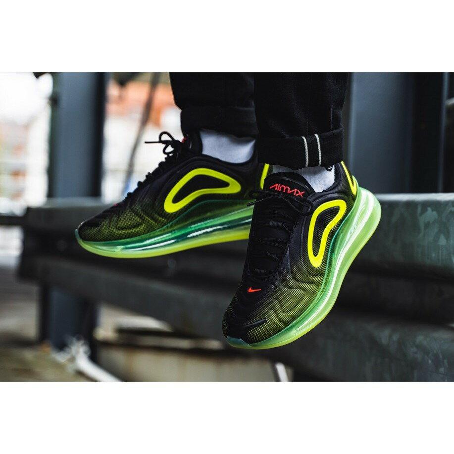 【日本海外代購】Nike Air Max 720 黑綠 螢光綠 氣墊 休閒 慢跑 休閒鞋 天眼 情侶鞋 AO2924-008