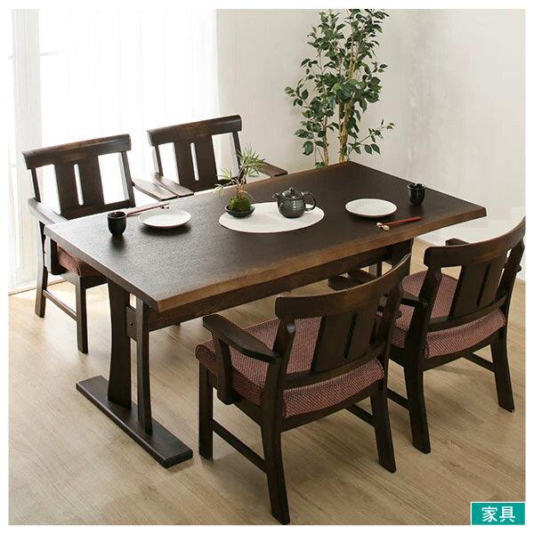 ◎和風木質餐桌椅五件組(旋轉椅)YAMATO4160DBRNITORI宜得利家居
