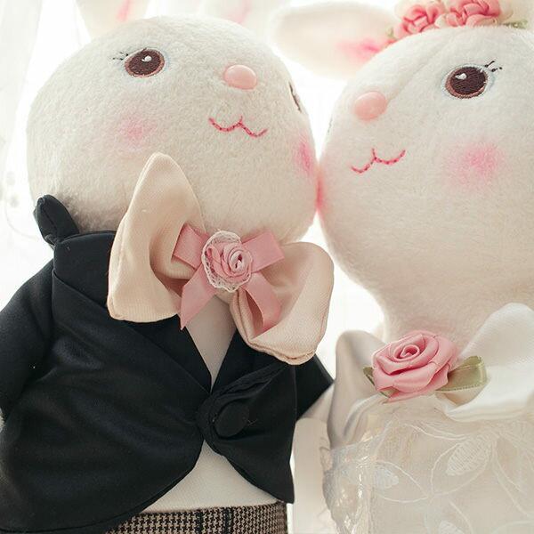 Bonny兔兔結婚了  兔兔一對附贈精美紙盒  各高度35cm - 限時優惠好康折扣
