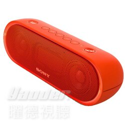 【曜德★春之頌樂相隨】SONY SRS-XB20 紅 重低音防水 照明藍芽喇叭 12hr免持通話 / 免運 / 送3.5mm音源線+運動束口袋