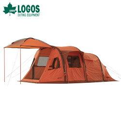 【露營趣】附打氣筒 LOGOS LG71805037 充氣四人帳 L-AH 充氣帳篷 打氣帳篷 隧道帳 家庭帳 露營帳