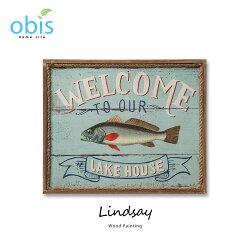 【預購】Lindsay湖濱雅舍地中海風木板畫