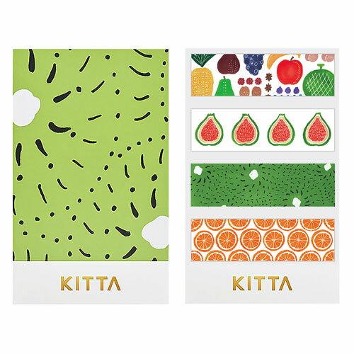 【日本KITTA】隨身攜帶和紙膠帶KIT025水果系列本