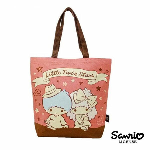 【日本正版】雙子星 KIKILALA 帆布 肩背包 托特包 手提袋 肩揹提袋 三麗鷗 Sanrio - 442934