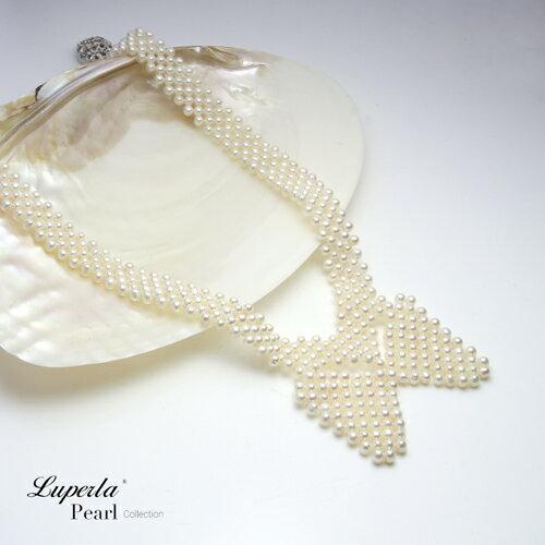 大東山珠寶 晚宴珠寶 天然珍珠項鍊 歐美古典編織珠寶 2