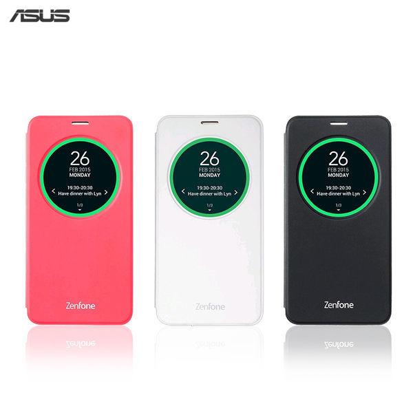 華碩ASUS ZenFone2 (ZE550ML)5.5 吋原廠視窗側掀皮套-白
