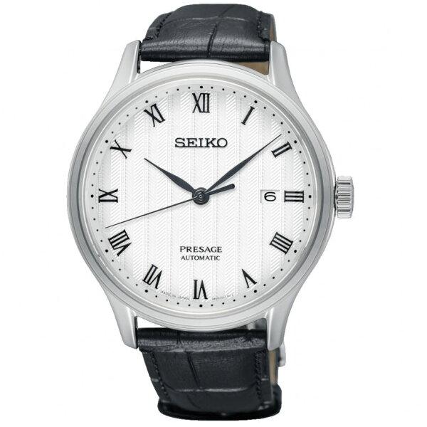 Seiko精工表Presage4R35-02S0P(SRPC83J1)紳士經典機械腕錶白面41.7mm