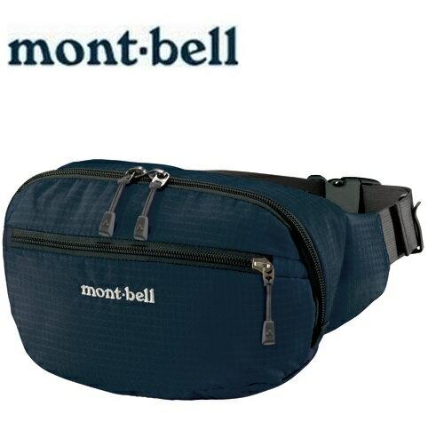Mont-Bell 休閒腰包/旅行腰包 Delta gusset pouch L 1123765 NV海軍藍