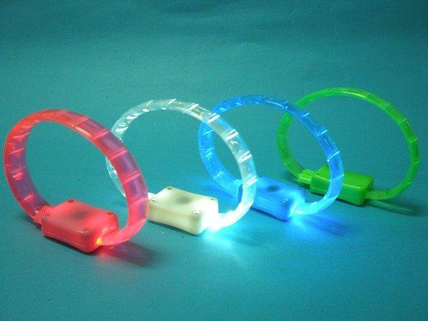 夜跑手環 夜光手環 LED手環 閃光手鐲/一個入{促49}LED發光手環 矽膠發光手環