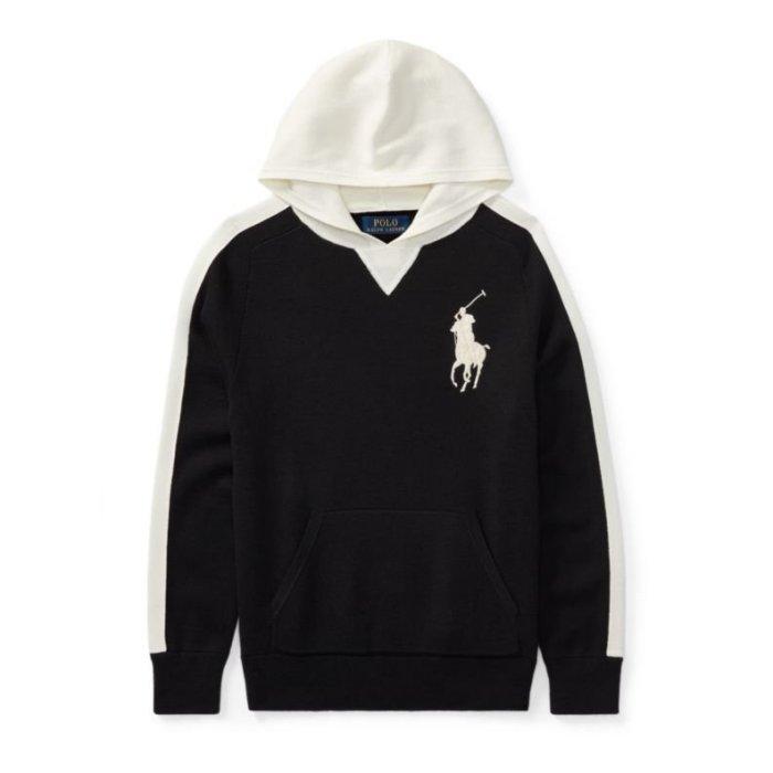 美國百分百【全新真品】Ralph Lauren RL 連帽 帽T T恤 長袖 青年版
