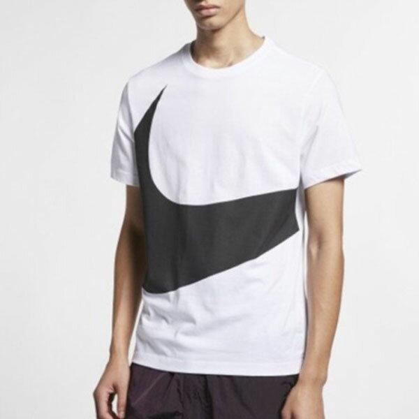 【滿額領券折$150】NIKE BIG SWOOSH 短袖 T恤 大LOGO 白黑勾 男生【CK9586-100】