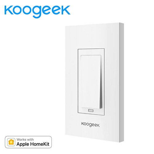 智慧聯網koogeek智慧牆壁開關KH01(1迴線、支援AppleHomekit)【三井3C】
