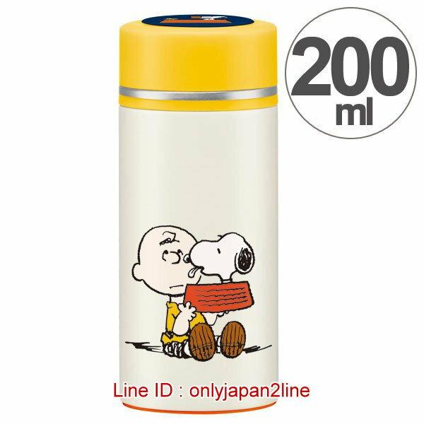 【真愛日本】16121600035輕量保溫瓶200ml-SN親查理米    史努比 SNOOPY  水壺 水瓶