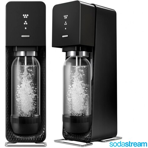 【買就送玻璃冷水壺】Sodastream 氣泡水機 Source plastic 氣泡水機 汽泡水機 黑