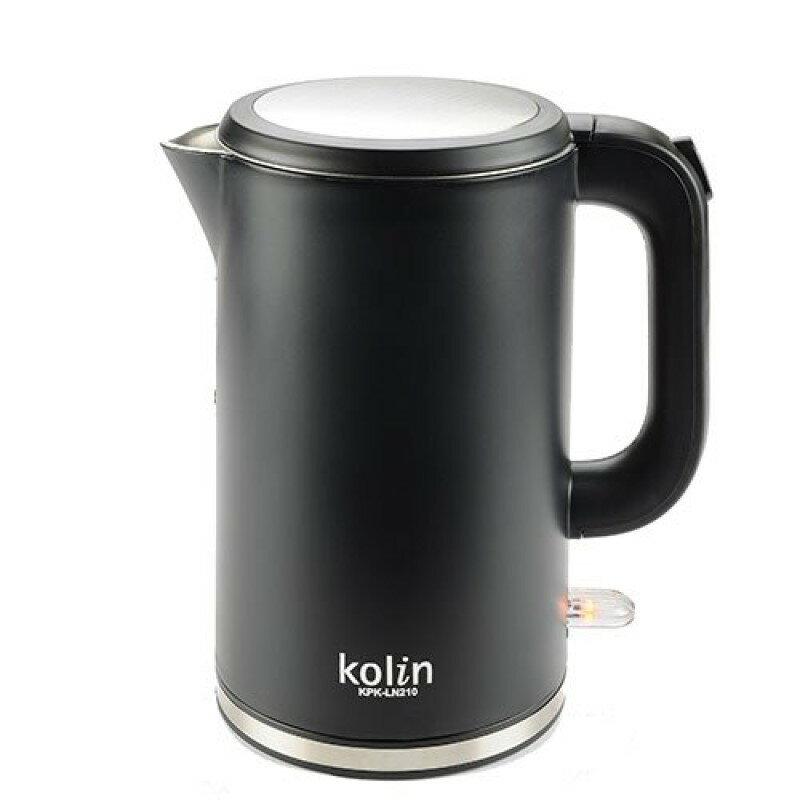 淘禮網   KPK-LN210 歌林316不鏽鋼雙層防燙快煮壺(尊爵黑)