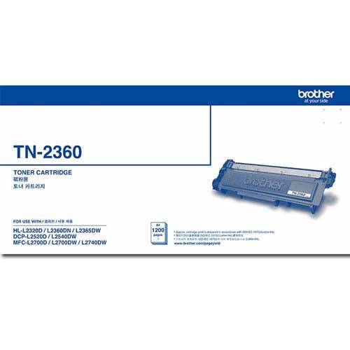 <br/><br/> Brother TN-2360 黑色碳粉匣 (標準容量)<br/><br/>