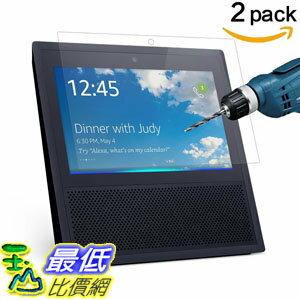 [106美國直購] CAVN 2 Pcs Amazon Echo Show Screen Protector HD Clear 9H Hardness Tempered Glass Screen Pr..
