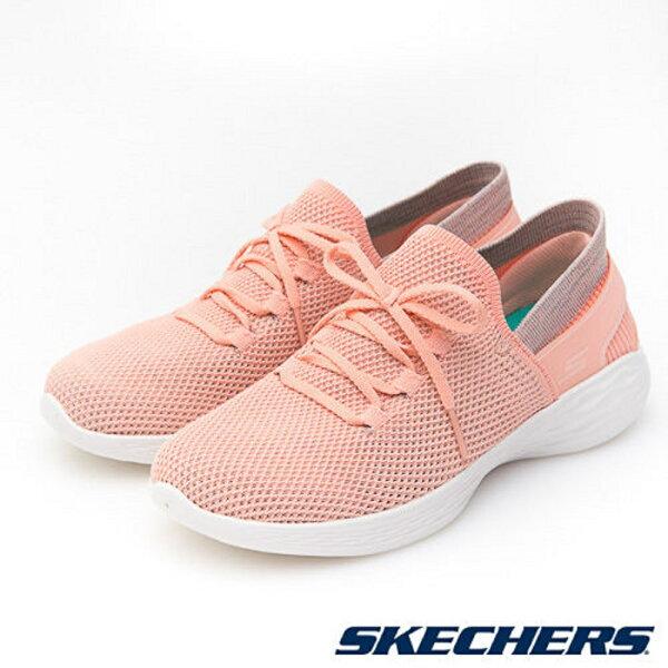 SKECHERS女健走系列YOU系列(橘粉)健走鞋懶人鞋襪套14960PCH【胖媛的店】