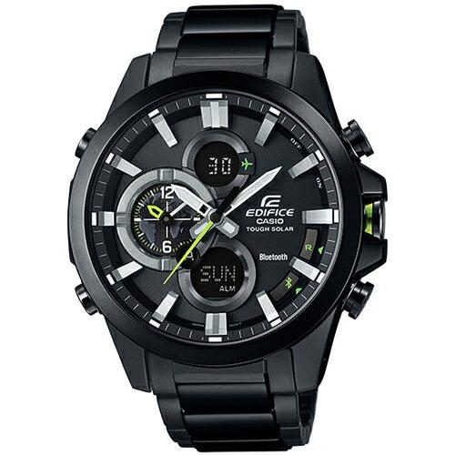 CASIO EDIFICE ECB-500DC-1A炫黑智慧藍牙賽車腕錶/黑面48mm