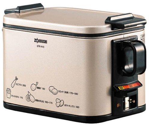 日本公司貨 ZOJIRUSHI 象印 電炸鍋 油炸鍋  EFK-A10  鹽酥雞 天婦羅油炸鍋 比氣炸鍋 安全 油溫可調 日本必買代購