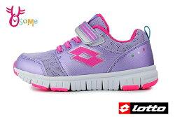 LOTTO 義大利 樂得 中大童 運動鞋 機能鞋 透氣網布 慢跑鞋 M8600#紫色◆OSOME奧森鞋業