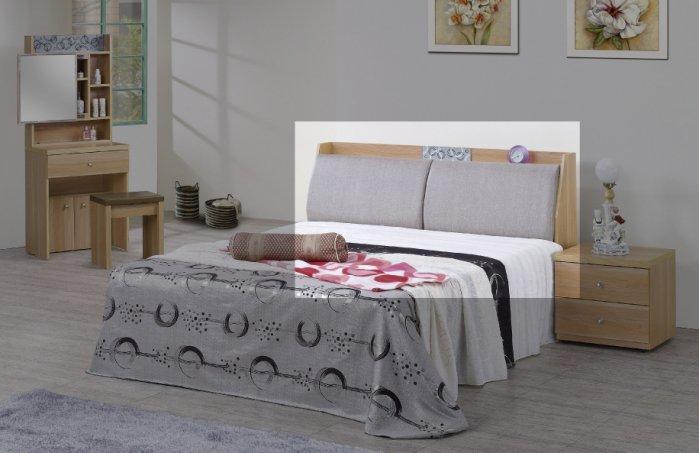 【尚品家具】JF-558-2 歐蕊5 尺橡木紋雙人床頭箱
