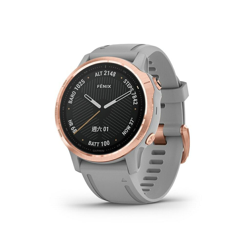 [多重神劵現折10%再抵禮金] Garmin Fenix 6S 進階複合式運動GPS腕錶/登山戶外錶/行動支付 內建血氧感測功能