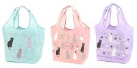 世界地球日,環保愛地球到【百倉日本舖】日本進口 貓咪環保購物袋/折疊式購物袋