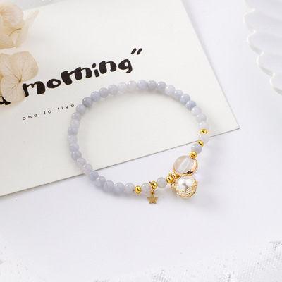 PS Mall 韓版甜美少女心金屬纏繞珍珠串珠手鏈森林系簡約個性手串【G2528】 0