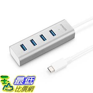 [106美國直購] Anker AK-A8305041 鋁製充電集線器 USB-C to 4-Port USB 3.0 Hub for USB Type-C Devices