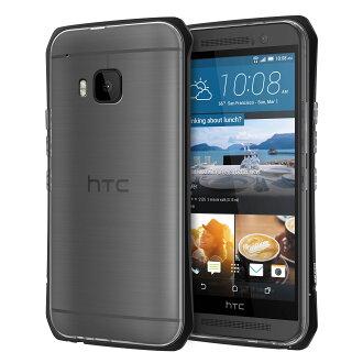 SEIDIO TETRA™ Pro 極簡透明背蓋金屬保護框 for HTC One M9 - 黑