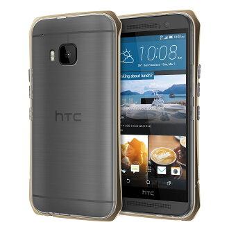 SEIDIO TETRA™ Pro 極簡透明背蓋金屬保護框 for HTC One M9 - 金