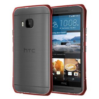 SEIDIO TETRA™ Pro 極簡透明背蓋金屬保護框 for HTC One M9 - 紅