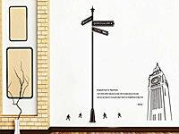 BO雜貨【YV2886】可移動 時尚組合壁貼 牆貼 壁貼紙 創意璧貼 英國 倫敦 大笨鐘