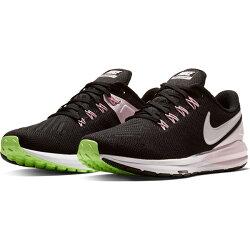 【NIKE】W NIKE AIR ZOOM STRUCTURE 22 運動鞋 慢跑鞋 黑 粉 綠 女鞋 -AA1640004