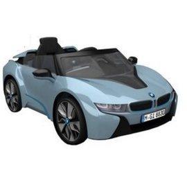 【淘氣寶寶】原廠寶馬BMW I8 雙開門 兒童電動車(附遙控)(單驅)W480QG(緩起步) 水藍色