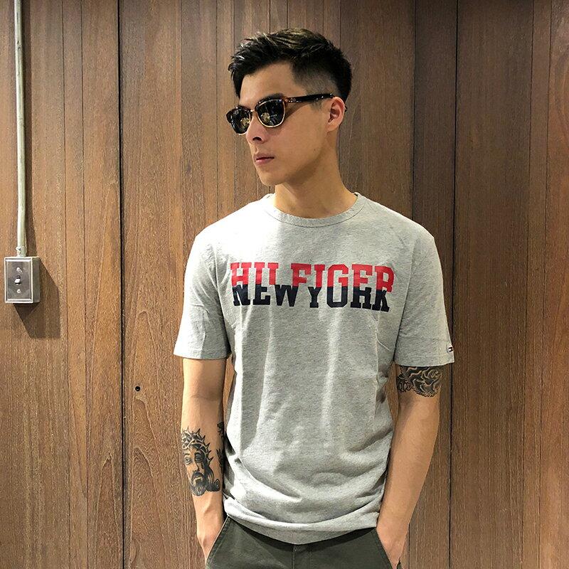 美國百分百【全新真品】Tommy Hilfiger T恤 TH 男衣 T-shirt 短袖 logo 短T K034