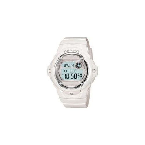 Baby-g Watch, Womens Digital White Resin Strap 46x43mm BG169R-7A 1
