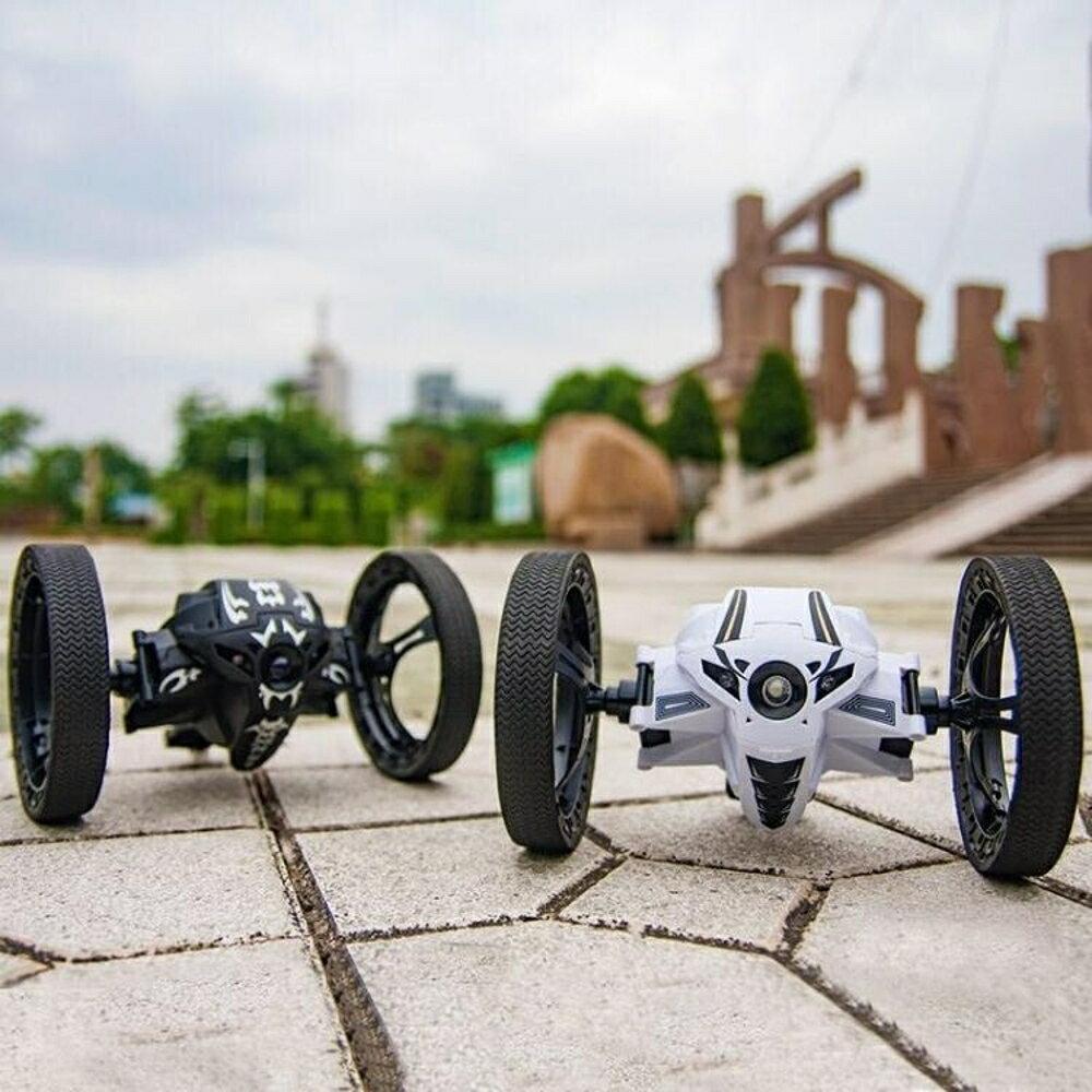彈跳遙控車越野車充電遙控汽車兒童玩具男孩玩具車賽車電動大腳車 阿薩布魯