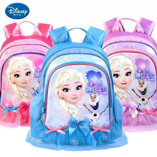 麻吉小舖:正版迪士尼冰雪奇緣幼兒園書包寶寶後背包3-6歲適合