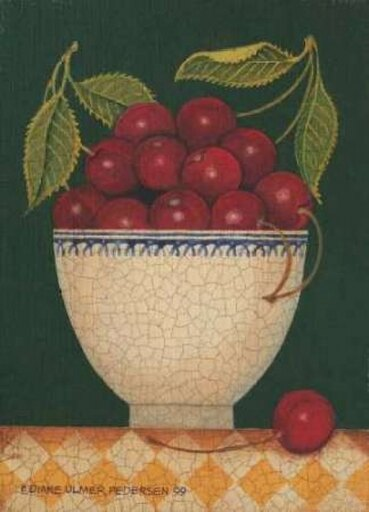 Cup O Cherries Poster Print by Diane Pedersen (10 x 14) 5e299fcfe207ad28110877c693d6c502