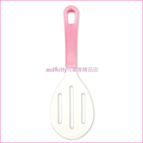 asdfkitty可愛家☆日本製-Pretty粉紅色有洞飯匙飯勺