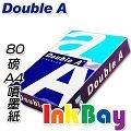 DOUBLE A 80磅A4影印紙一箱5包(500張)~印表機專用