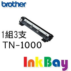 BROTHER TN-1000 / TN1000 相容黑色碳粉匣/適用機型:BROTHER HL-1110/DCP-1510/MFC-1815 /MFC-1910W(一組3支)