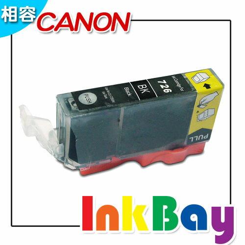 CANON CLI-726BK/726bk/726(相片黑)相容墨水匣 /適用機型:CANON MG5270/MG617/IP4870
