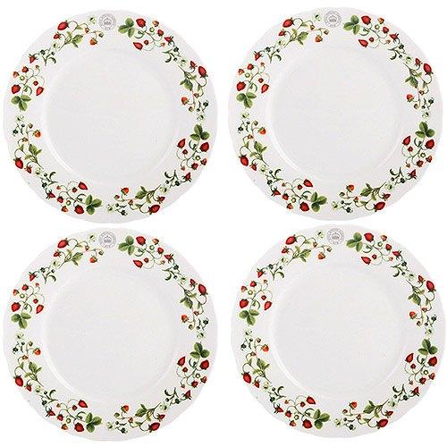 《CreativeTops》Kew淺餐盤4入(草莓莊園19cm)