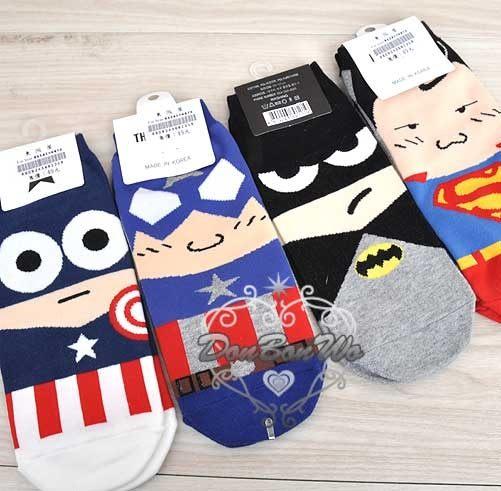 蝙蝠俠美國隊長超人襪子短襪691219
