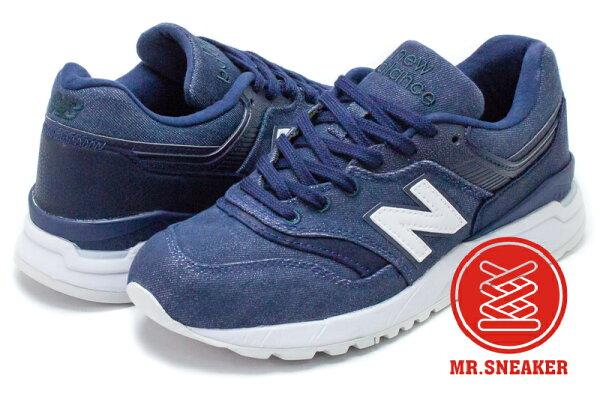 ☆Mr.Sneaker☆NEWBALANCEWR997HDI丹寧布復古藍色女鞋